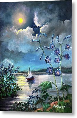 Delphinium Dreams Metal Print