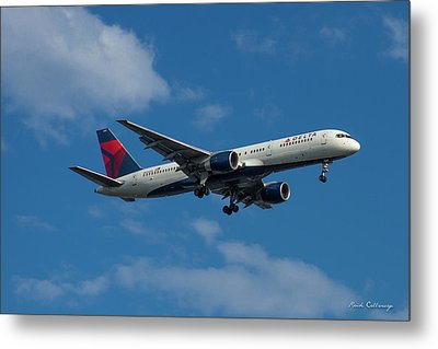 Delta Air Lines 757 Airplane N668dn Metal Print by Reid Callaway