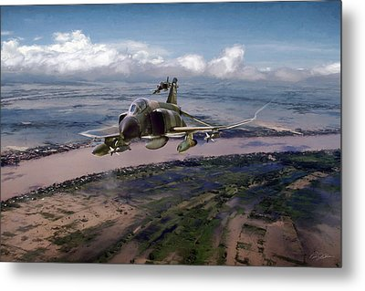 Metal Print featuring the digital art Delta Deliverance by Peter Chilelli