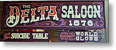 Delta Saloon 1876 Metal Print