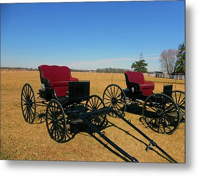 Deluxe Model Buggy Metal Print by Tina M Wenger