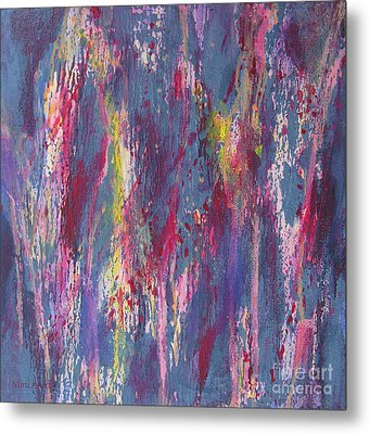 Metal Print featuring the painting Delve Deep 2 by Mini Arora