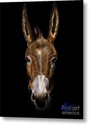 Dem-donkey Metal Print by Reggie Duffie