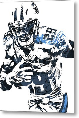 Demarco Murray Tennessee Titans Pixel Art Metal Print by Joe Hamilton