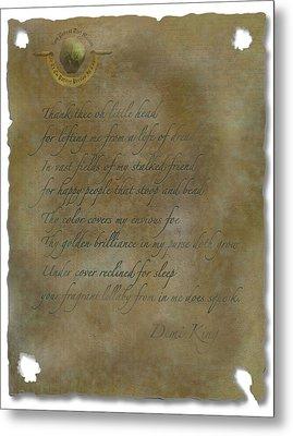 Demi King's Love Poem Metal Print