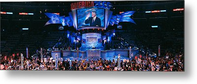 Democratic Convention At Staples Metal Print by Panoramic Images