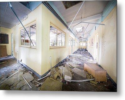 Demolished Office - Abandoned Building Metal Print by Dirk Ercken
