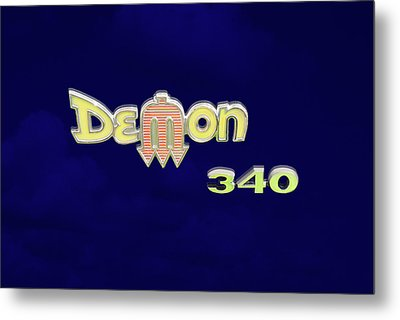 Metal Print featuring the photograph Demon 340 Emblem by Mike McGlothlen
