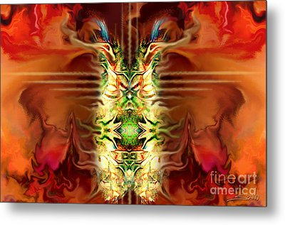 Demon Column By Spano Metal Print