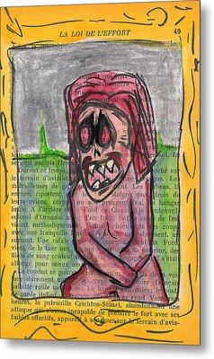 Demon Mona Lisa Metal Print by Jera Sky