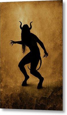 Demon Silhouette Metal Print