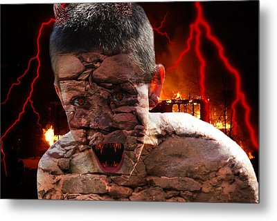 Demonic Metal Print by Bransen Devey