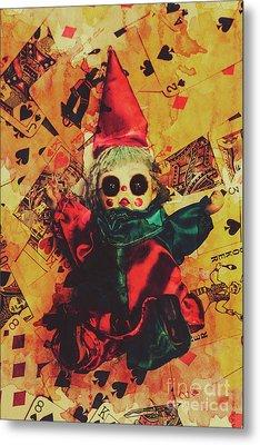 Demonic Possessed Joker Doll Metal Print by Jorgo Photography - Wall Art Gallery