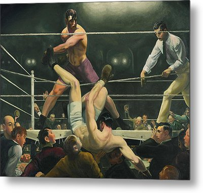 Dempsey And Firpo Boxing - George Bellows  Metal Print