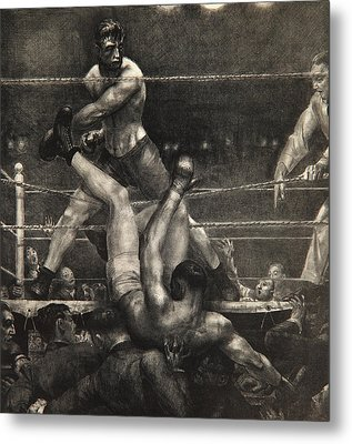 Dempsey Through The Ropes Metal Print by George Wesley Bellows