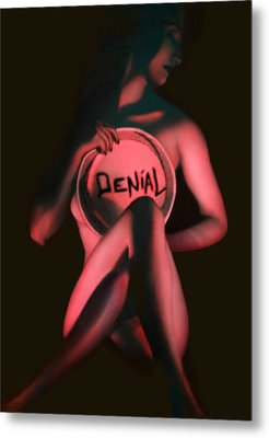 Denial - Self Portrait Metal Print by Jaeda DeWalt