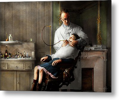Metal Print featuring the photograph Dentist - Good Oral Hygiene 1918  by Mike Savad