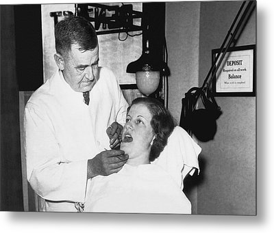 Dentist Has Cure For Pyorrhea Metal Print by Underwood Archives