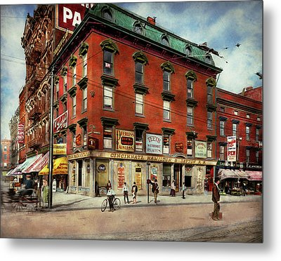 Metal Print featuring the photograph Dentist - Peerless Painless Dental Parlors 1910 by Mike Savad