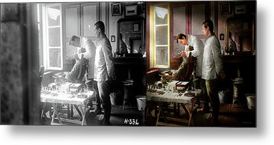 Metal Print featuring the photograph Dentist - The Horrors Of War 1917 - Side By Side by Mike Savad