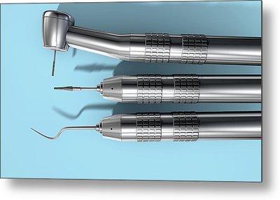 Dentists Tools Metal Print by Allan Swart