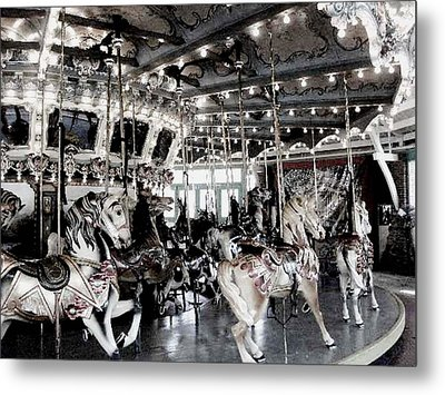 Dentzel Menagerie Carousel - Glen Echo Park Maryland Metal Print