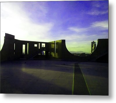 Metal Print featuring the photograph Denver Art Museum Deck 1 by Marilyn Hunt
