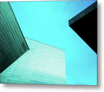 Metal Print featuring the photograph Denver Art Museum Hamilton by Marilyn Hunt