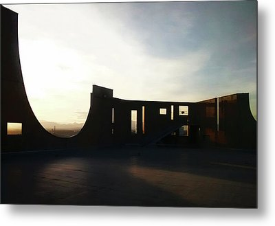 Metal Print featuring the photograph Denver Art Museum Ponti Deck by Marilyn Hunt
