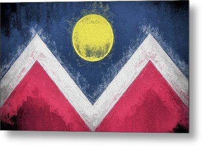 Metal Print featuring the digital art Denver Colorado City Flag by JC Findley