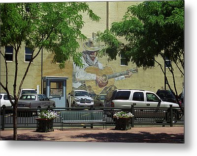 Metal Print featuring the photograph Denver Cowboy Parking by Frank Romeo