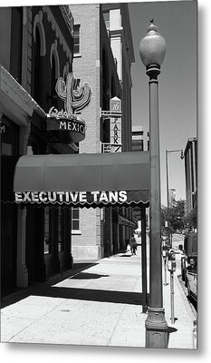 Denver Downtown Storefront Bw Metal Print by Frank Romeo