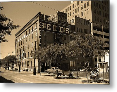 Metal Print featuring the photograph Denver Downtown Warehouse Sepia by Frank Romeo