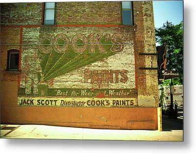 Metal Print featuring the photograph Denver Ghost Mural by Frank Romeo