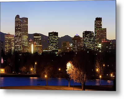Metal Print featuring the photograph Denver Skyline - Colorful Colorado by Gregory Ballos