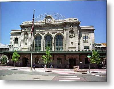 Metal Print featuring the photograph Denver - Union Station Film by Frank Romeo