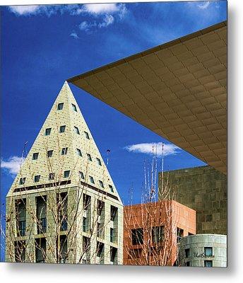 Denver Urban Geometry Metal Print