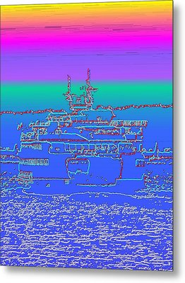 Departing Ferry Metal Print by Tim Allen