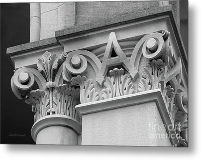 Depauw University East College Detail Metal Print by University Icons