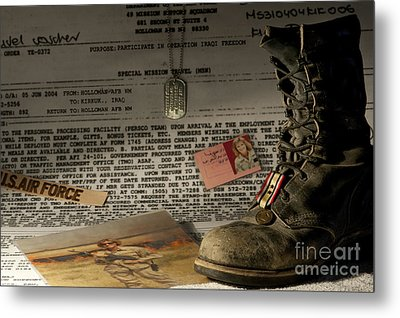 Metal Print featuring the photograph Deployment by Melany Sarafis