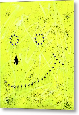 Depression Series - #1 - Pained Smile Metal Print by Chuck Redick