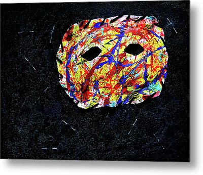 Depression Series - #2 - The Mask Metal Print
