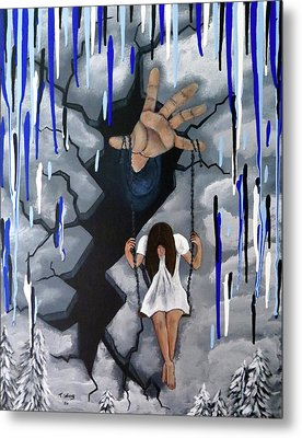 Metal Print featuring the painting Depression by Teresa Wing