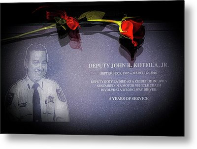 Deputy Kotfila Metal Print by Marvin Spates