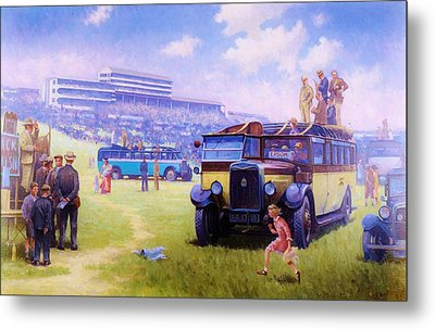 Derby Day Epsom Metal Print by Mike  Jeffries