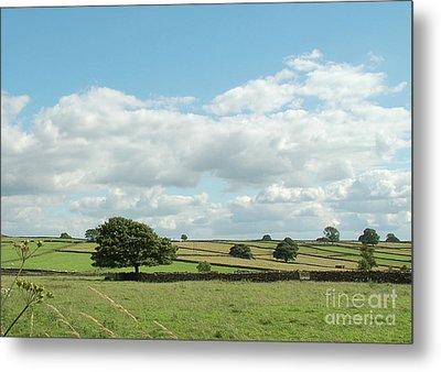 Derbyshire Landscape Metal Print