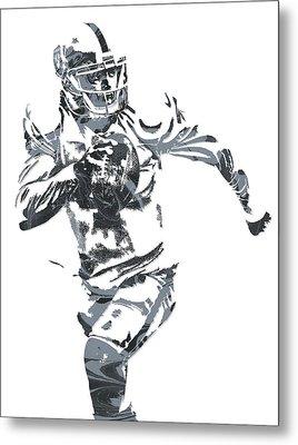 Derek Carr Oakland Raiders Pixel Art 10 Metal Print
