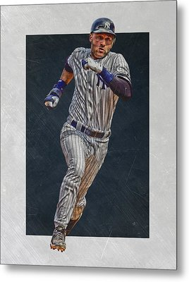 Derek Jeter New York Yankees Art 3 Metal Print by Joe Hamilton