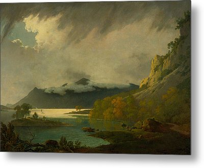 Derwent Water, With Skiddaw In The Distance Metal Print by Joseph Wright