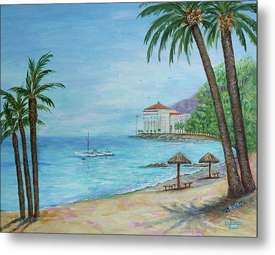 Descanso Beach, Catalina Metal Print